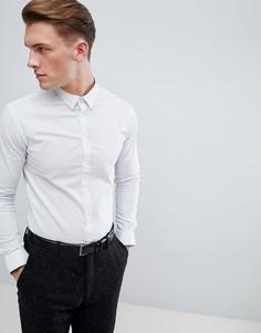 Строгая узкая рубашка с цветочным принтом Celio - Белый
