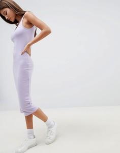 Трикотажное платье миди Noisy May - Фиолетовый