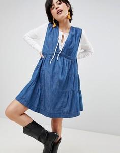 Джинсовое платье мини Free People Esme - Синий
