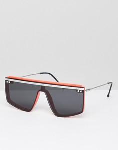 Черно-оранжевые солнцезащитные очки в стиле ретро Spitfire - Черный