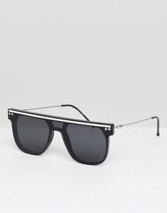 Черно-белые солнцезащитные очки с плоским верхом Spitfire - Черный