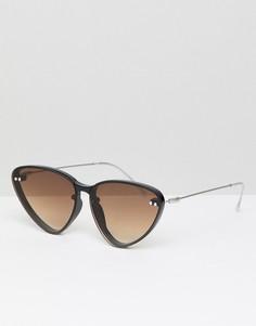 Черные солнцезащитные очки кошачий глаз с коричневыми стеклами Spitfire - Черный