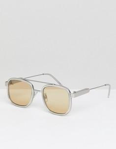 Светло-коричневые квадратные очки Spitfire - Коричневый