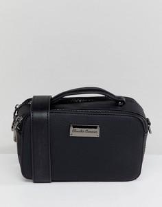 Структурированная сумка через плечо с двумя молниями Claudia Canova - Черный