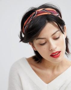 Повязка на голову с перекрутом и геометрическим принтом ASOS DESIGN Summer - Мульти