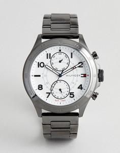Часы из нержавеющей стали с белым циферблатом Tommy Hilfiger Hudson - Серебряный