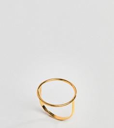 Позолоченное серебряное кольцо ASOS DESIGN - Золотой