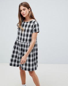 Платье в клеточку с присборенной отделкой Daisy Street - Мульти