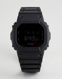 Цифровые часы с коричневым силиконовым ремешком G-Shock DW-5600BB-1ER Heritage - Коричневый
