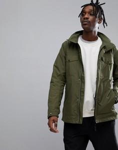 Куртка цвета хаки с четырьмя карманами Didriksons 1913 Robert - Зеленый