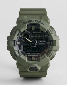 Зеленые силиконовые цифровые часы G-Shock GA-700UC-3A - Зеленый