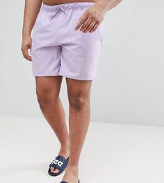 Фиолетовые шорты для плавания средней длины ASOS DESIGN Plus - Фиолетовый
