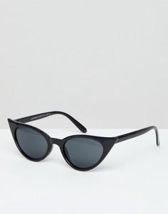 Узкие солнцезащитные очки кошачий глаз 7X - Коричневый
