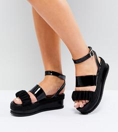 Черные сандалии на платформе для широкой стопы Lost Ink - Черный