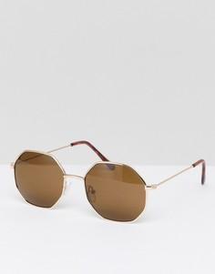 Шестиугольные солнцезащитные очки Jeepers Peepers - Серебряный