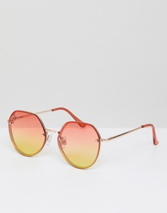 Круглые солнцезащитные очки с градиентными стеклами Jeepers Peepers - Серебряный