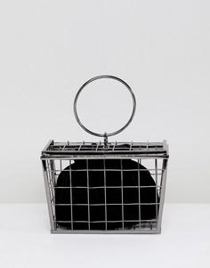 Сумка в решетчатом контейнере ASOS DESIGN - Серый
