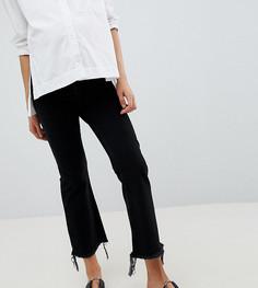 Укороченные расклешенные джинсы выбеленного черного цвета ASOS DESIGN Maternity - Черный