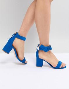 Синие замшевые босоножки на блочном каблуке Ted Baker Kerrias - Синий