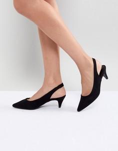 Туфли на конусообразном каблуке с ремешком через пятку New Look - Черный