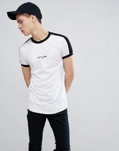 Белая обтягивающая футболка Sixth June - Белый