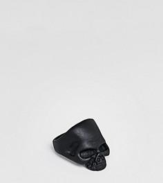 Черное кольцо с черепом DesignB эксклюзивно для ASOS - Черный