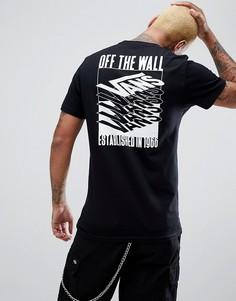 Черная футболка с принтом на спине Vans Stacked Up VA3HEVBLK - Черный