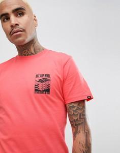 Розовая футболка с принтом на спине Vans Dubarry VA3HEVEIY - Розовый