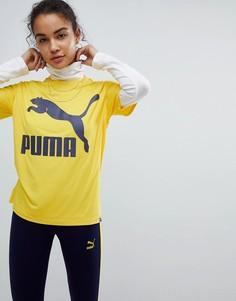 Футболка горчичного цвета с логотипом Puma Classics - Желтый