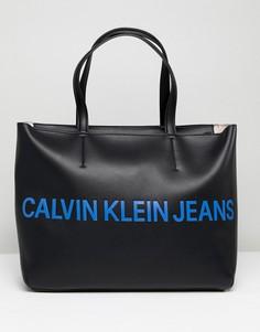 Сумка-тоут с логотипом Calvin Klein Jeans - Черный