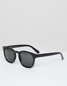 Солнцезащитные очки в квадратной оправе Weekday - Черный