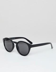 Черные солнцезащитные очки Weekday Trek - Черный