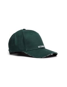 Зеленая кепка с логотипом Vetements