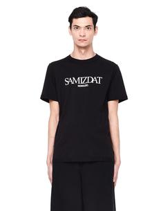 Хлопковая футболка с принтом Yang LI