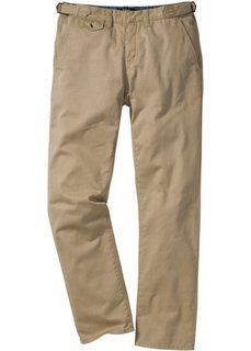 Брюки-чино Regular Fit Straight, низкий + высокий рост (U + S) (бежевый) Bonprix