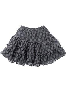 Двухсторонняя ярусная юбка из тюля, Размеры  116/122-164/170 (серый) Bonprix