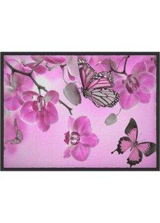 Коврик для двери Бабочки (розовый) Bonprix