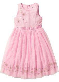 Платье с тюлем (розовый) Bonprix
