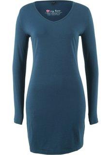 Платье с клинообразным вырезом (темно-синий) Bonprix