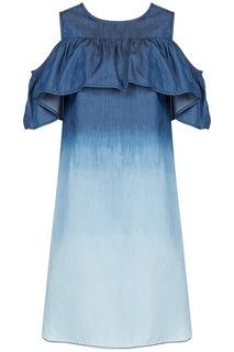 Платье с оборкой La Reine Blanche