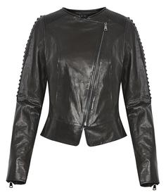 Кожаная куртка-косуха с клёпками Acasta