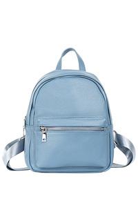 Голубой кожаный рюкзак La Reine Blanche