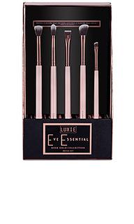 Набор кисточек rose gold eye essential brush set - Luxie