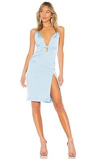 Платье по колено без рукавов offense - NBD