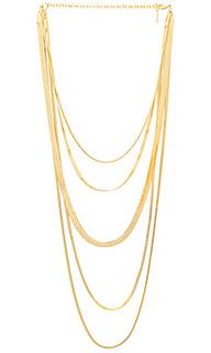 Ожерелье cascading snake chain - Luv AJ