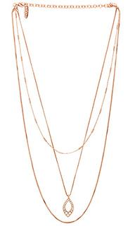 Ожерелье pave marquise - Luv AJ