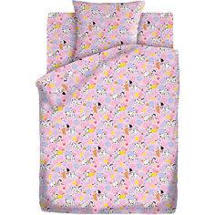 Детское постельное белье 3 предмета Кошки-мышки, Далматинцы, розовый