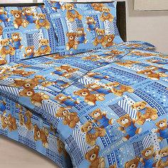 Детское постельное белье 1,5 сп Letto Мишки, голубой