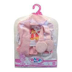 """Одежда для кукол """"Кофточка, штаны, шарф, головной убор, наушники"""" Shantou Gepai"""