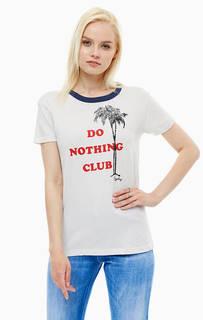 Хлопковая футболка с принтом Replay